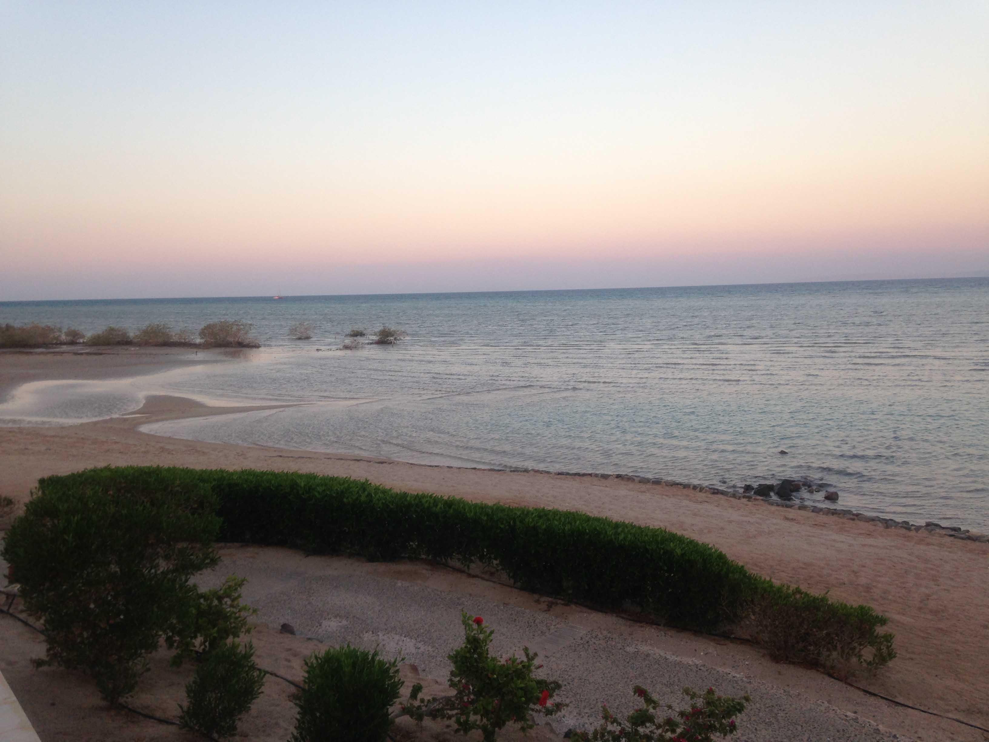 Schemering aan de Rode Zee